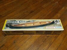""" Indian Girl "". Canoe Model Kit #981 16"" Sealed in the Box Midwest Products Co."