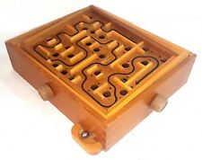 """Two Axis Tilting Wood Maze Game 9.25"""" X 11"""" X 2.5"""""""