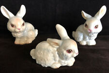 3 Vintage Goebel Porcelain Rabbit / Bunny ... Daddy, Mama and Baby • 100% MINT!!