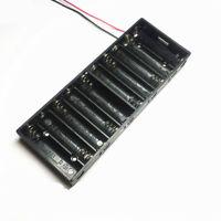 1 Pcs Plastic Shell Battery Holder Case Box  for 10 x 1.5V AA Battery