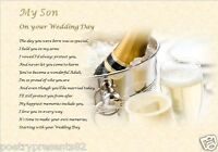SON ON YOUR WEDDING DAY GIFT - personalised gift