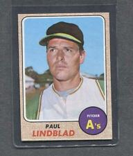 1968 Topps #127 Paul Lindblad (A's)  Ex+  (Flat Rate Ship)