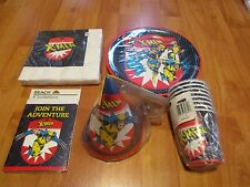 5pc lot 1990 Party Makers X-Men Multi-color Birthday Party Goods  NOS