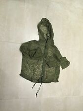 "mesh hoody ,military,parka,new old stock us made,1982""mosquito  parka"",small"