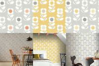 Arthouse Retro Floral Flower Motif 10m Wallpaper 3 Colours
