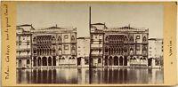 Venezia Palais Ca' Oro Fotografia Stereo Vintage Albumina c1865