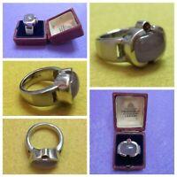 Artisan Heavy Amethyst Garnet Sterling Silver 925 Hallmarked Ring Size 7 16.36g