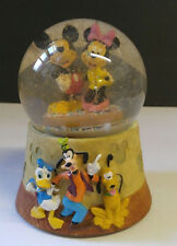 Disney Mickey Minnie Mouse Musical Snowglobe Vintage