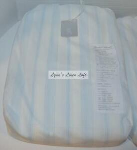 RACHEL ASHWELL COUTURE Westminster Blue White Stripe CAL KING FITTED SHEET