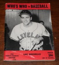 1949 WHO'S WHO IN BASEBALL LOU BOUDREAU CLEVELAND INDIANS HOF HALL OF FAMER