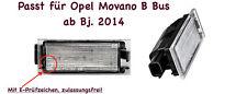 2x TOP LED SMD Kennzeichenbeleuchtung für Opel Movano B Bus ab Bj. 2014 (N06)
