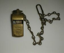 Old Vintage Military Army Navy The Acme Thunderer New York Brass Whistle Chain