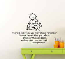 Winnie the Pooh Wall Decal Christopher Robin Vinyl Sticker Playroom Poster 127ct