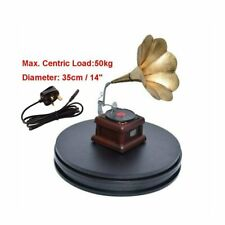 UK 35cm Black Heavy Duty 50kg Loading 360° 3d Rotating Display Stand Turntable