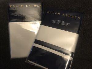 Ralph Lauren Bowery Bedding-Euro Sham & Standard Sham Vintage Silver & POLO Navy