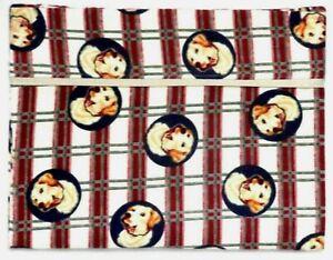 Toddler Pillowcase for Dogs on Red & Cream Flannel #DG8 New Handmade
