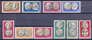 Greece 1959 Ancient Coins part I complete set MNH