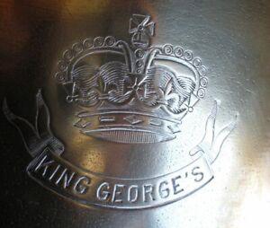 Argenterie d' hôtel KING GEORGE 'S : Sceau à champagne métal argenté CHRISTOFLE