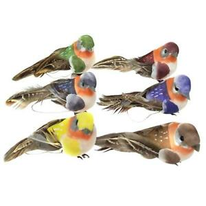 12pcs Artificial Foam Feather Birds DIY Crafts Ornament Home Garden Decoration