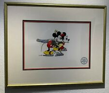 Mickey and Minnie On Ice (Framed) - Sericel