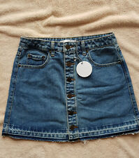 Women's Patty undone hem denim skirt THE HIDDEN WAY, Vintage blue size 10