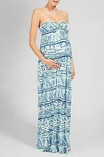 RACHEL PALLY Sweetheart MAXI Strapless BLUE Aloha MOZELLE Maternity DRESS S
