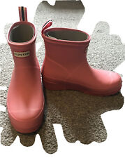 Ladies Size 6 Pink Hunter Play Boots BNIB Cotton Candy Pink
