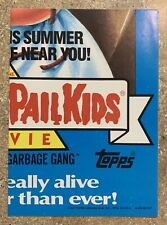 "1987 Garbage Pail Kids 9th Series RARE ""Movie Promo"" Box Poster! TWT"