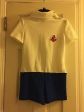 Vintage sailor costume one piece romper nautical anchor Sears Roebuck