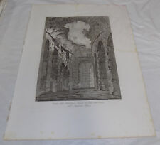 "1851 Print 17x22""/ANCIENT ROMAN FLAVIUS AMPHITHEATER WALKWAY, ROME, ITALY//a"