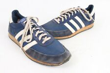 Vintage 80s Adidas Squire Blue White Running Shoes Taiwan Mens Size 10.5