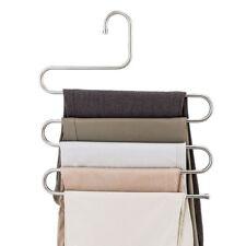 Perchas est/ándar Pantalones de m/últiples capas multifunci/ón Clip Ahorro de espacio Capa antideslizante Pantalones de almacenamiento de madera maciza Perchas para pantalones cortos Pantalones Bufandas