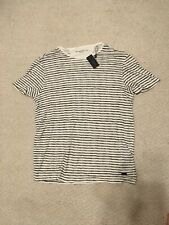 NWT John Varvatos Nervous Stripe Linen Tshirt