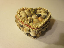 VINTAGE HEART SHAPE SHELL JEWELRY BOX -- FROM THE 50s