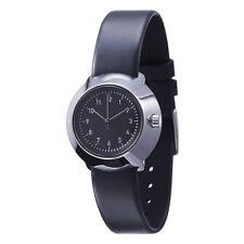 "Normal Timepieces ""Fuji"" Quarzo Acciaio Lucido Nero Pelle Orologio Donna"