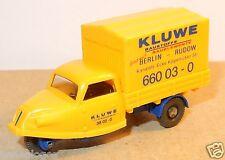 MICRO WIKING HO 1/87 GOLI DREIRAD TRICYCLE KLUWE BERLIN RUDOW JAUNE no BOX