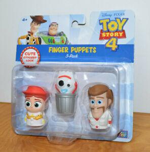 TOY STORY Finger Puppets Mini Figures Jessie Forky Duke Caboom MOC Disney Pixar