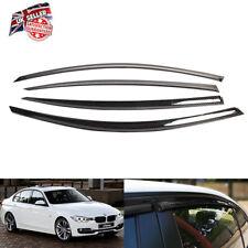 4PCS WIND RAIN TINTED BLACK DEFLECTORS WINDOW SHEILD FOR BMW E90 IE05