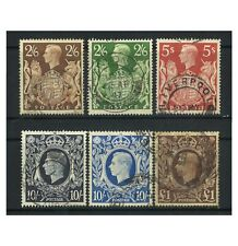 GREAT BRITAIN 1939-48 KING GEORGE VI USED STAMPS SET/6 TO £1 SG476/78c KGVI 4-8