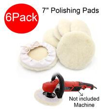 6Pcs 7inch Car Lambs Wool Bonnet Buffing Wheel Pad Buffer Polishing Polisher Pad