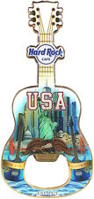 Hard Rock Cafe ONLINE 2017 USA Guitar MAGNET Bottle Opener V17 City Tee Shirt