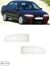 FOR FORD MONDEO MK1 1993 - 1996 NEW FRONT HEADLAMP LIGHT LENS PAIR L + R LHD