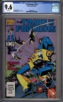 Transformers 16 CGC Graded 9.6 NM+ Marvel Comics 1986