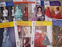 COSTUME SEWING PATTERNS ~ CIVIL WAR ERA DRESSES & ACCESSORIES ~ NEW/UNCUT