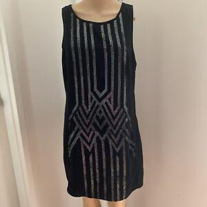 Women BLUE JUICE Black Sleeveless Midi Party Summer Dress Size 12 BNWT RRP $99