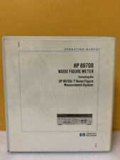 Hp 08970 90033 8970b Noise Figure Meter 8970st Operating Manual
