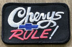 CHEVYS RULE CLOTH PATCH CHEVROLET BELAIR IMPALA CAMARO CORVETTE 283 327 350 454