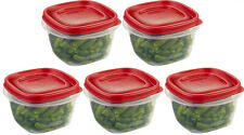 Lot Of 5 Rubbermaid 2 Cup Easy Find Lid Square Food Storage Containers