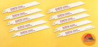 "Drill Hog® 6"" Reciprocating Saw Blade COBALT 6x18 Sawzall Blade USA Metal 10 Pc"