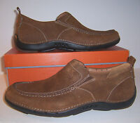 Clarks Unstructured Un.Garner Mens Sz US 12 M Tan Suede Slip-Ons Loafers Shoes